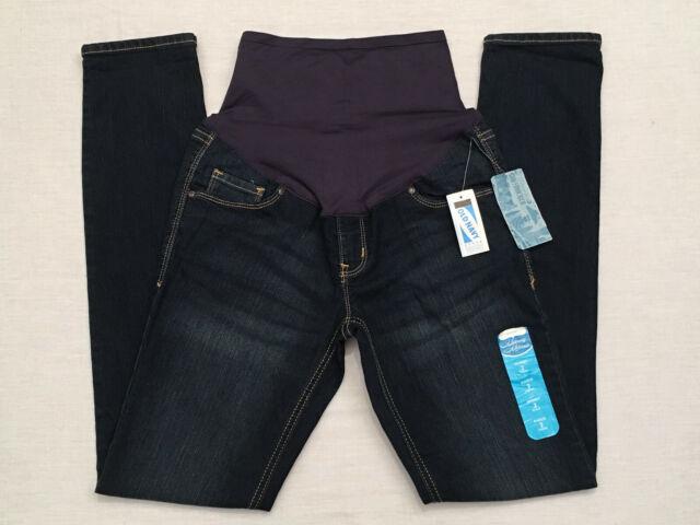 1d69d19da70 OLD NAVY Women's Med. Dark Blue Skinny Maternity Denim Jeans, Sz 2 Regular,