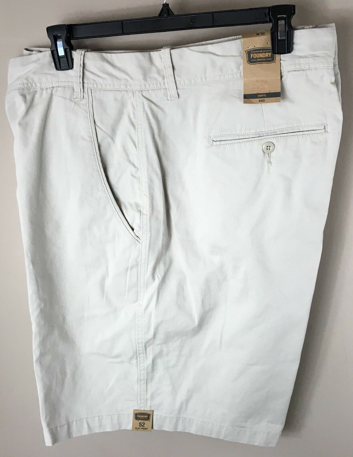 46 W Mens Shorts Foundry Supply Co. Classic Khaki 10