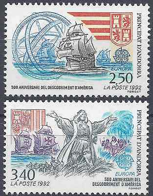 Stamps Andorra Andorra French N°416/417 Europa Christophe Columbus Neuf Luxe Mnh Value Bright Luster