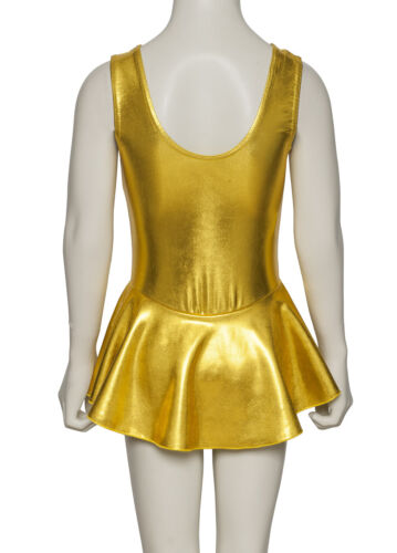 All Colours Metallic Dance Leotard With Skirt Dress KDR005 Halloween By Katz
