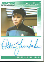 THE QUOTABLE STAR TREK THE NEXT GENERATION AUTOGRAPH CARD PATTI YASUTAKE