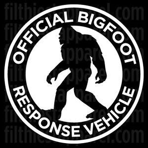 Bigfoot Response Vehicle Decal Vinyl Sticker Sasquatch