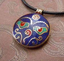 Schönes SILBER Buddha Eye Amulett aus NEPAL Lapislazuli