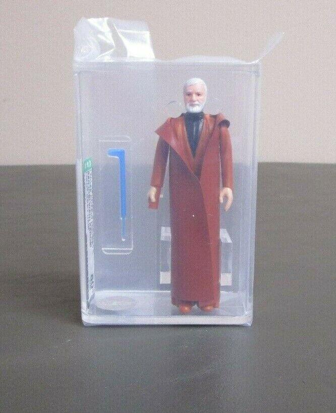 Ben Obi-Wan Kenobi gris Claro 1977 figura de acción de la guerra de las galaxias calificado autoridad 80 casi NUEVO ESTADO NO COO JJ nuevo caso