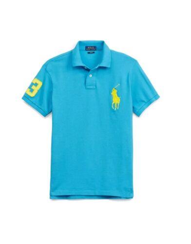 NWT POLO RALPH LAUREN BOYS BIG PONY CLASSIC FIT HAWAIIAN BLUE RUGBY POLO Shirt
