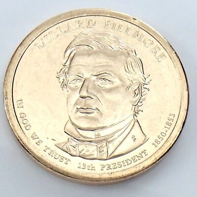 2010-D President Millard Fillmore Dollar-UNCIRCULATED 1 Coin
