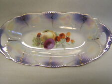 """Vintage Registered Celebrate Porcelain 9"""" long 2 Handled Oblong Dish Germanyawh"""