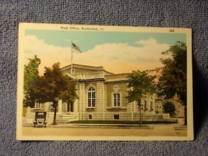 Vintage-Postcard-Post-Office-Kankakee-Ill