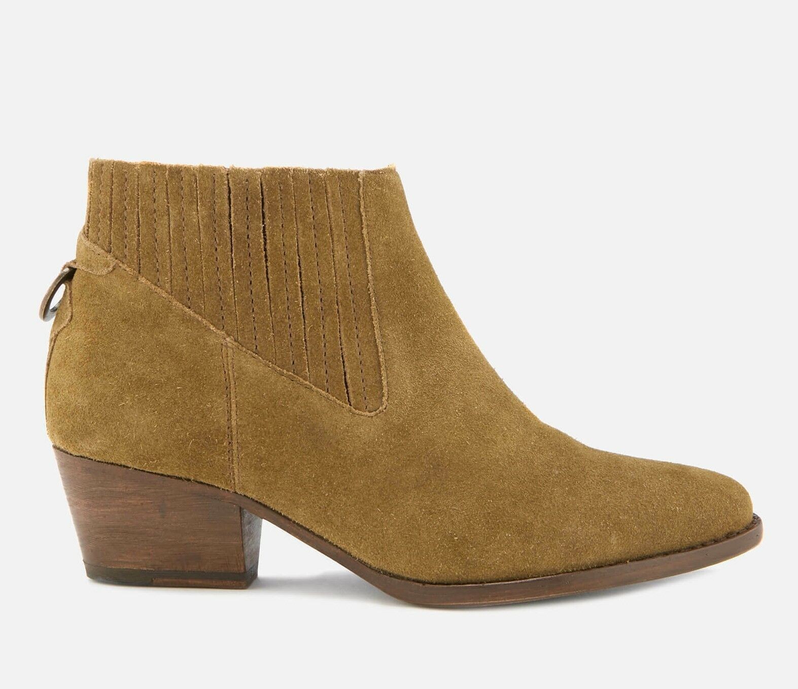 H By Hudson Sand Ernest Suede Leather Heeled Ankle Slip On Western Stiefel 3 to 6