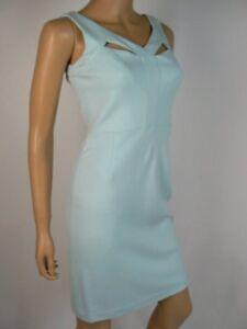 0b2c8ab3d46  119 Gianni Bini Aquamarine Cutout Lace Sheath Gia Dress 0 NWT G236 ...
