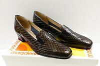 California Magdesians Women's Rita-r 7 A Pewter Black Patent Leather Loafers
