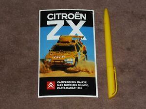 1991 Rallye Paris Dakar Citroen Zx Esp Stickeraufkleber