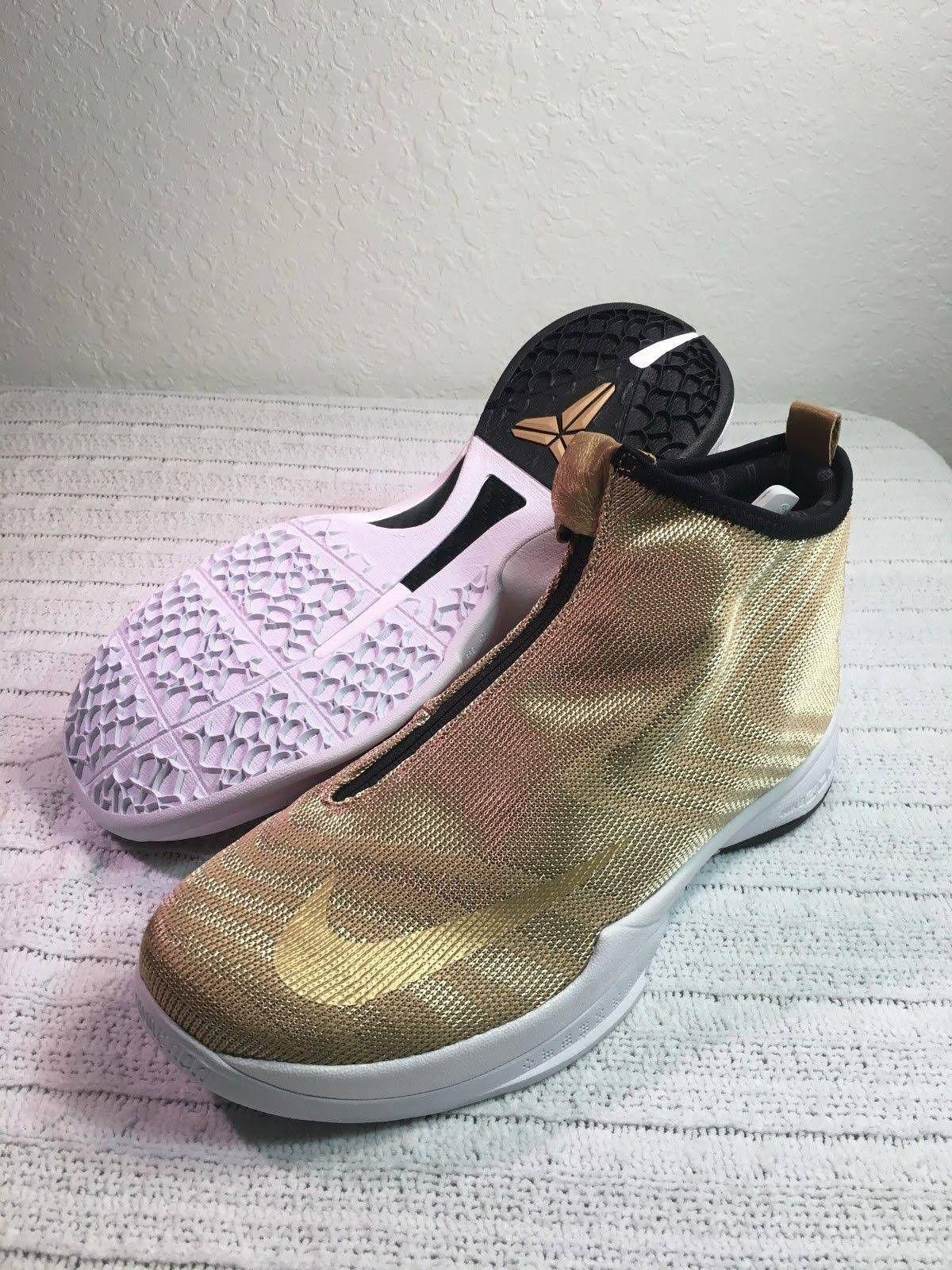 pretty nice 20190 779de NEW Nike Men s Met. Gold Black Zoom Kobe Kobe Kobe Icon Jacquard Basketball  Shoes sz 10.5 616237