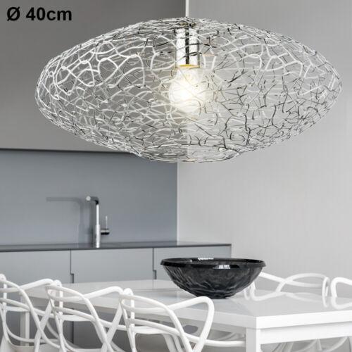Design Hänge Leuchte ALU Geflecht Chrom Decken Strahler Wohn Zimmer Pendel Lampe