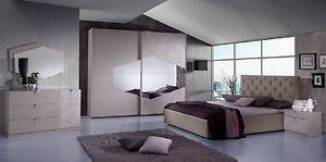 Dettagli su Camera da letto matrimoniale moderna completa di rete a doghe  modello Firenze