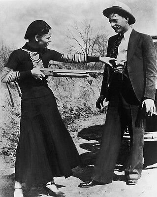 New 8x10 Photo Bonnie Parker and Clyde Barrow Depression-Era Gangster Outlaws