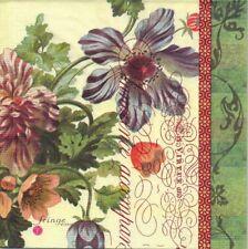 Lot de 2 Serviettes en papier Bouquet Vintage Decoupage Collage Decopatch