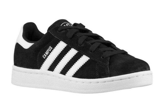 new product 45530 01c86 NEW Adidas Originals Campus 2 C77166 YOUTH Black White CBlack Boys Sneaker