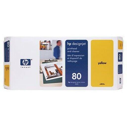 HP Designjet 80 Yellow Printhead & Cleaner C4823A