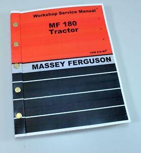 massey ferguson 180 tractor service repair shop manual technical rh ebay com Old Massey Ferguson Tractors Massey Ferguson 180 Diesel Tractor