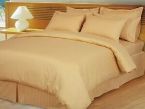 Hotel-Bedding-Collection-1000-TC-Egyptian-Cotton-US-Sizes-Gold-Striped