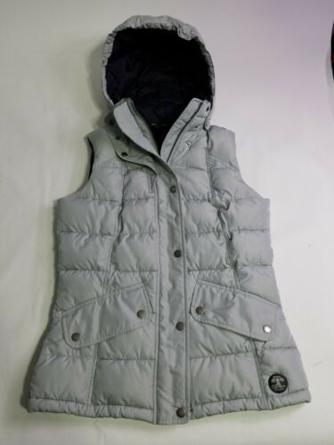 Barbour Moors Down Vest Hooded Quilted Grey 6 Sma… - image 1