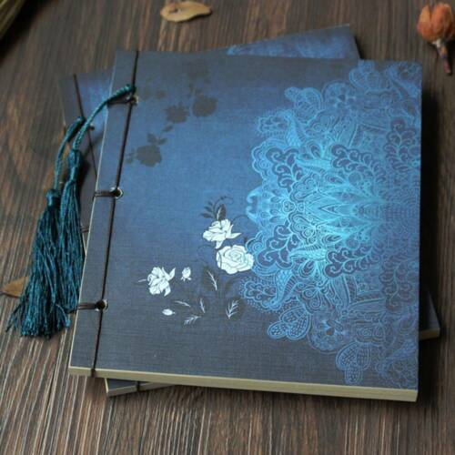 1 Pc Handmade Wire-bound Sketchbook Journal Diary Gift Notebook Chinese Tassel