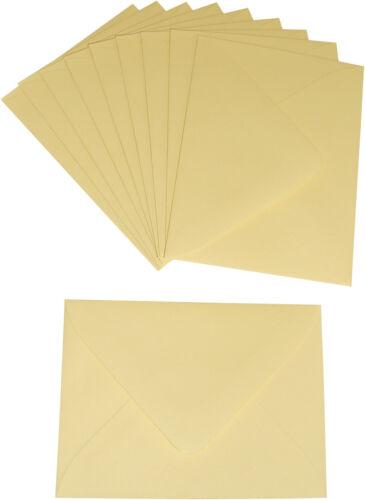 10 MINI Briefumschläge chamois 52 x 71 mm für Einladung Geld-Geschenk