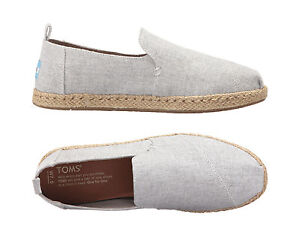 6c6bcacf5 Image is loading Toms-Womens-Shoes-DECONSTRUCTED-ALPARGATA-ESPADRILLES-Grey- Chambray-