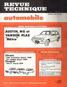 Aimable Rta Revue Technique Automobile N° 428 Austin Mg Vanden Plas Metro DernièRe Mode