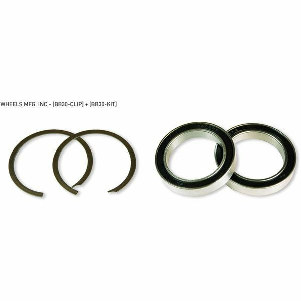 Wheels MFG BB30 service kit with 2 clips and  2 x 6806 angular contact bearings  sale