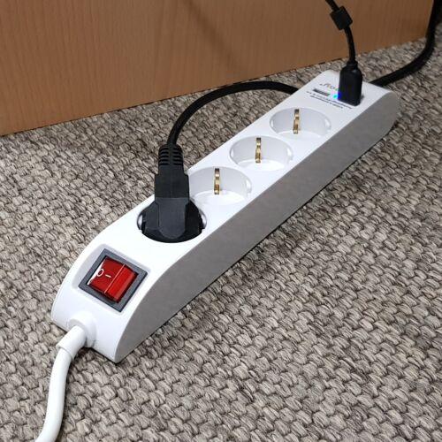 Table de la prise avec 2//3 USB de Chargement Prise Prises-Connecteur-Barre 1,4 m Bureau /& Co