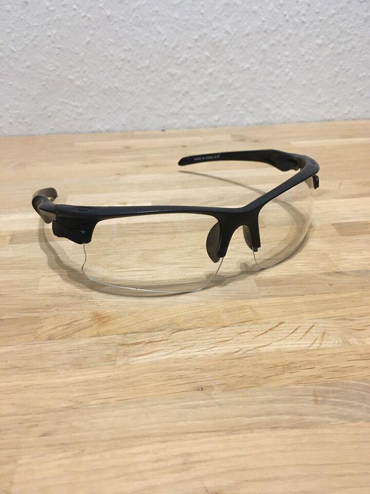 Briller, Løbe og cykel briller , gennemsigtig glas