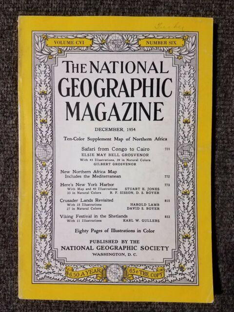 National Geographic Magazine December 1954 No map, Safari from Congo to Cairo