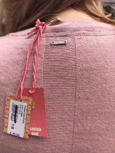 in con bianca imbottito lana Cardigan girocollo H6q4P