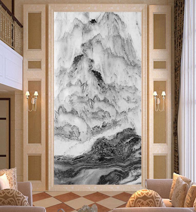 3D Hügel Malerei 755 Tapete Wandgemälde Tapete Tapeten Bild Familie DE Summer | Moderne und elegante Mode  | Üppiges Design  | Haltbar