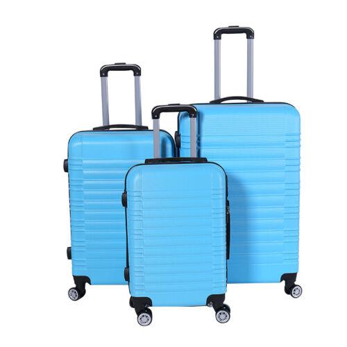 Valise de voyage xh003 Valise trolley coque rigide valise bagages à main 4 Rouleaux 3-er Set
