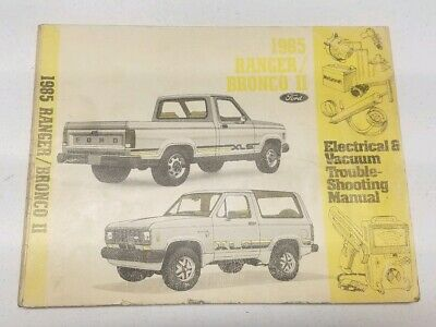 1985 Ford Bronco Ii Ranger Wiring Diagram Manual Oem Ebay