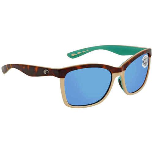 Costa Del Mar Anaa Blue Mirror Glass 580 Square Sunglasses ANA 105 OBMGLP
