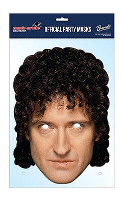 Brian May Offizielle Queen 2d Karten Party Gesichtsmaske Kostüm Rock Band Phantasie Farben