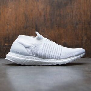 Adidas Ultra Boost Laceless Triple White Size 10 S80768 Yeezy Nmd