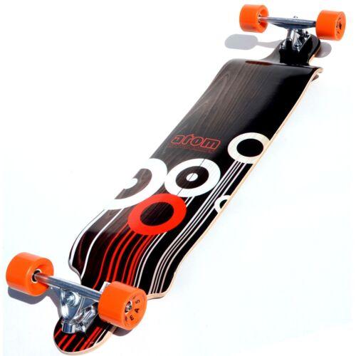 41-Inch Awesome Orange//Black//White Pattern!! New!! Atom Drop Deck Longboard