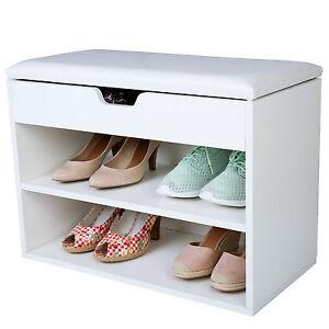 schuhschrank mit sitzkissen sitzbank schuhablage. Black Bedroom Furniture Sets. Home Design Ideas