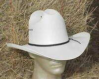 NEW WHITE CATTLEMAN STRAW COWBOY WESTERN HAT