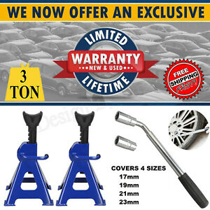3-Ton-Axle-Stands-Ratchet-Lifting-Jack-Car-Lorry-Van-Garage-Heavy-Duty-Wrench