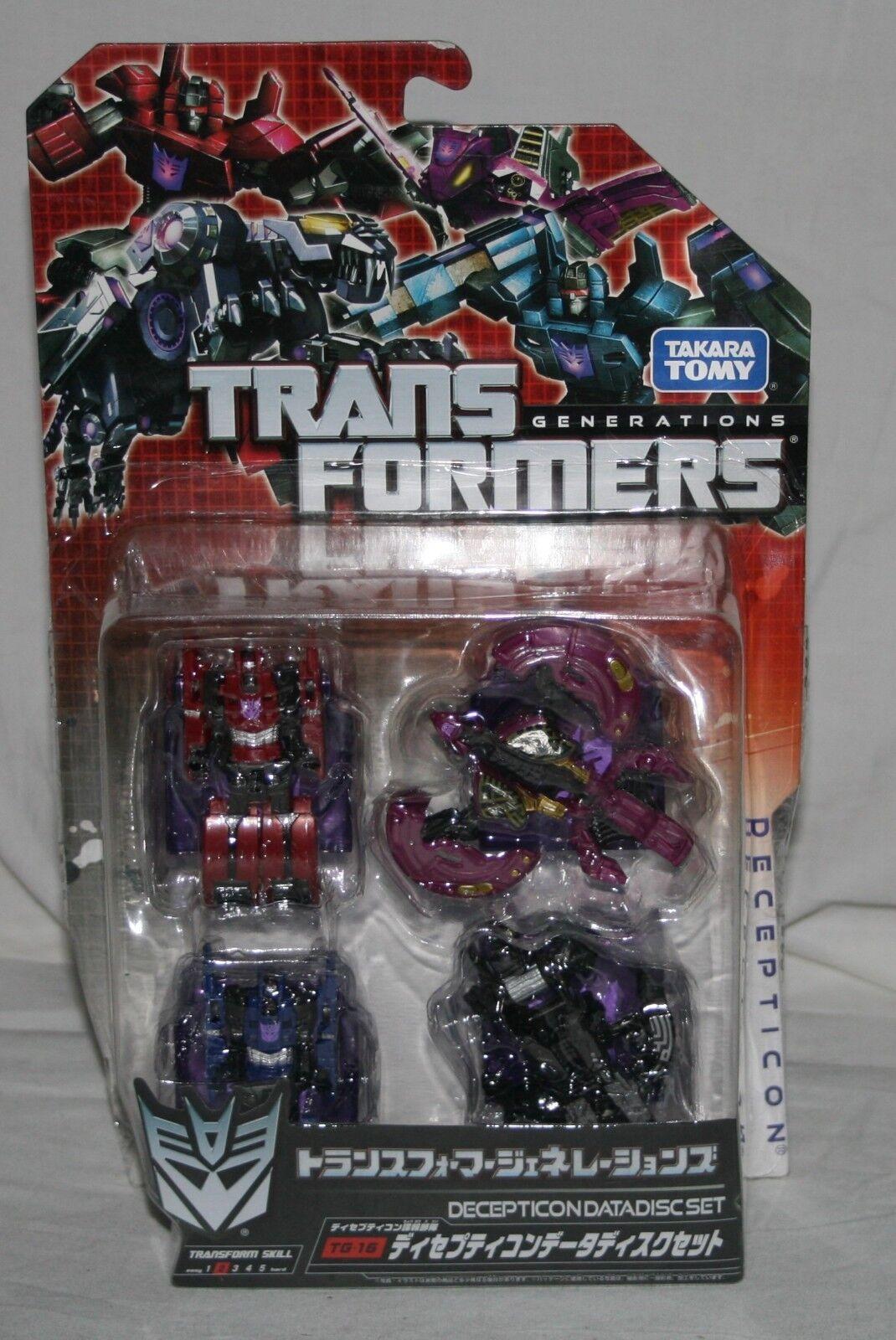 Transformers generations takara tg-15 decepticon data disc set  MOSC