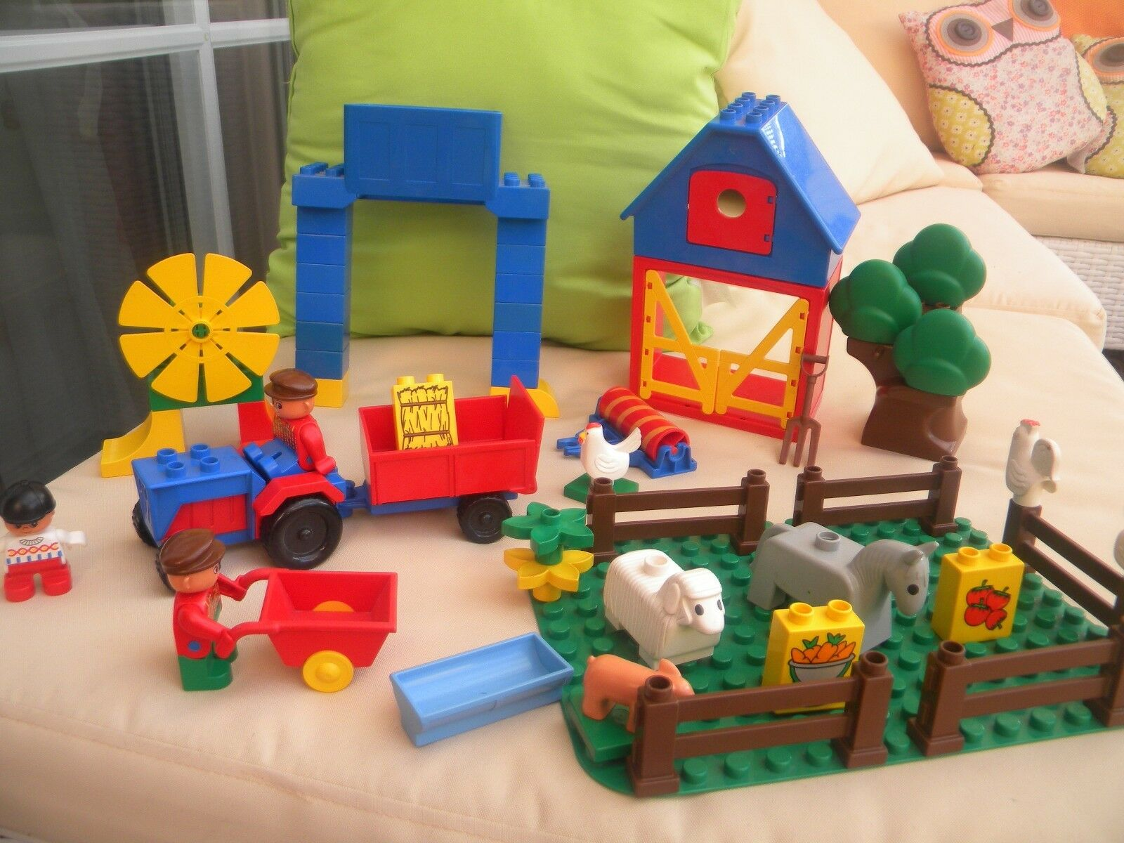 LEGO Duplo Bauernhof  großes Set Platte Haus Tiere Figuren Traktor Baum ect TOP