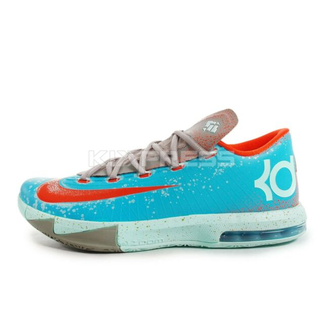 buy popular 51285 c6df2 ... Nike KD VI 599424-400 Basketball Maryland Blue Crab Gamma Blue Orange  ...
