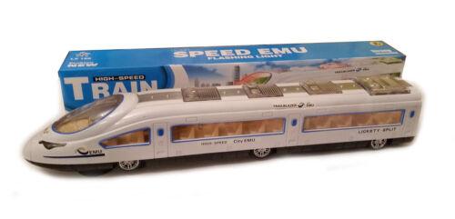 "Children Kids B//O 18/"" Bullet Train /& Carriages Lights Sounds Rotation UK Seller"