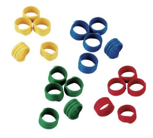 100 Stück Gänseringe 20 mm verschiedene Farben Pack